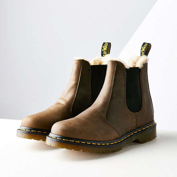 Dr. Martens Faux Fur-Lined Leonore Chelsea Boot - Urban Outfitters