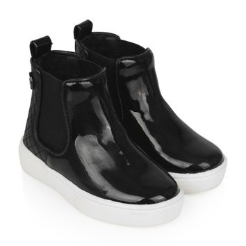 Michael Kors Girls Patent Black Boots