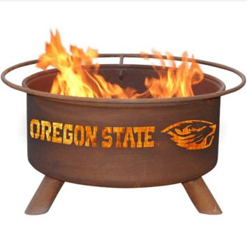 Oregon State Steel Fire Pit by Patina Products