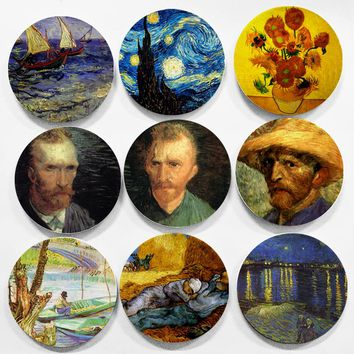 Colorful Vincent Willem Van Gogh Impressionism Style Wall Hanging Decorative Plates