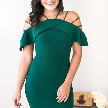 Strappy Happy Green Bodycon Dress