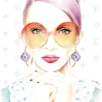 Fashion illustration - Louis Vuitton Sunglasses