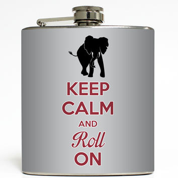 Keep Calm and Roll On - Alabama Flask