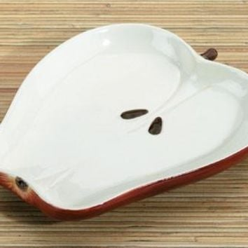 Apple Shaped Ceramic Serving Plate 7L