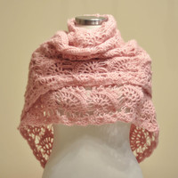 Pink Triangle Shawl