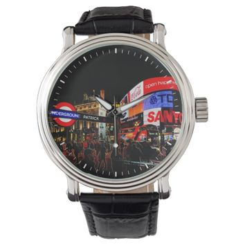 Fantasy Glowing Piccadilly London At Night Named Wrist Watches
