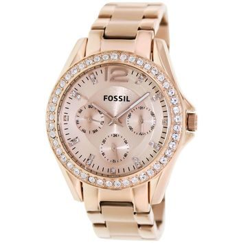 Fossil Women's Riley ES2811 Rose-Gold Stainless-Steel Fashion Watch 691464629922