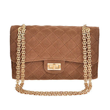 Grand Design Quilted Purse in Camel | MACA Boutique