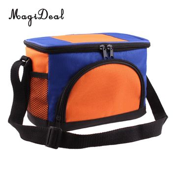 MagiDeal Portable Insulated Cooler Tote with Shoulder Strap