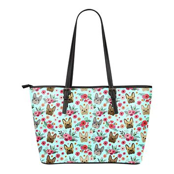 French Bulldog Flower Tote Bag