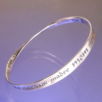 Mom In Thirty Two Languages Sterling Silver