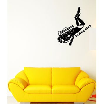 Vinyl Wall Decal Diving Suit Club Diver Logo Stickers (3659ig)