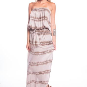 Tiare Hawaii Toby Dress Brown Stripe