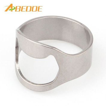 VONFC9 ABEDOE 20mm/22mm Bottle Openers Unique Creative Stainless Steel Finger Ring Ring-Shape Beer Soda Cap Win Bottle Opener