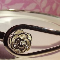 925 Sterling Silver Rose Bracelet  - Precious Metal without Stones