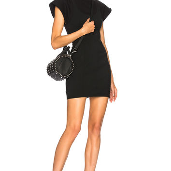 Alexander Wang Hybrid Sweatshirt Tank Dress in Black | FWRD