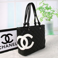 shosouvenir :CHANEL Women Fashion Shopping Bag Leather Tote Handbag Shoulder Bag
