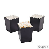 Mini Navy Blue Popcorn Boxes