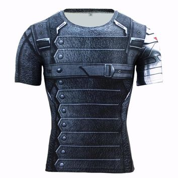 3D Printed T-shirts Men T Shirt Captain America Marvel Avengers iron man Fitness Male Crossfit Tops