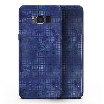 Indigo Watercolor Polka Dots - Samsung Galaxy S8 Full-Body Skin Kit