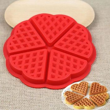 ICIK272 Family Silicone Waffle Mold Maker Pan Microwave Baking Cookie Cake Muffin Bakeware Cooking Tools Kitchen Accessories Supplies