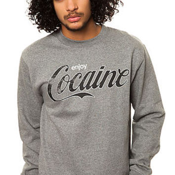 Dissizit Crewneck Enjoy Cocaine Gunmetal