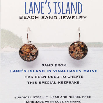 Lane's Island Beach Sand Jewelry, Vinalhaven Maine Sand Jewelry, Beach Sand Jewelry, Sand Jewelry, Summer, One of a Kind Gift, Made in Maine