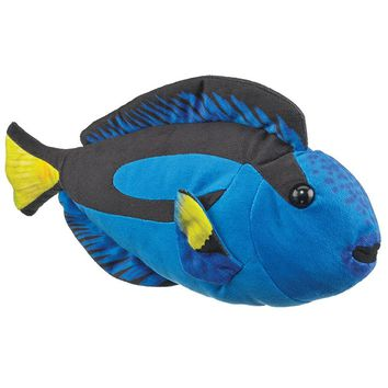 "14"" Blue Tang Fish Stuffed Animals Floppy Ocean Conservation Collection"