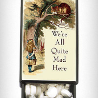 We're All Mad Slide Box with Mints