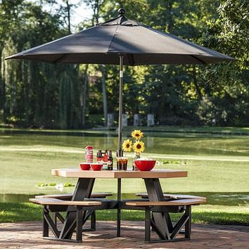 LuxCraft 9' Market Outdoor Umbrella Canopy Replacement (Canopy Only)