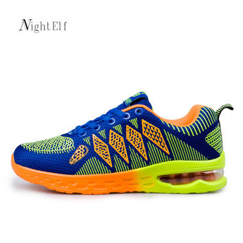 Night Elf men running shoes women sneakers breathable air mesh tennis shoes high quality sport shoes men 2016 trainers size 45