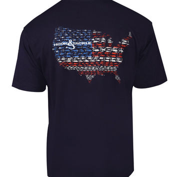 Men's American Marlins S/S Pocket Fishing T-Shirt