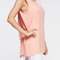 Scalloped Laser Cut Layered Top