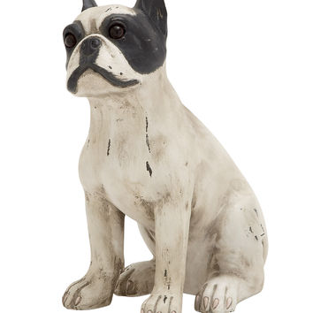 Superb Unique Styled Polystone Sitting Dog