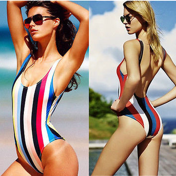 Swimwear 2016 Women One Piece Swimsuit Swimwear Sexy High Waist Bodysuit Bandeau Padded Brazilian Monokinis Crochet Bathing Suit