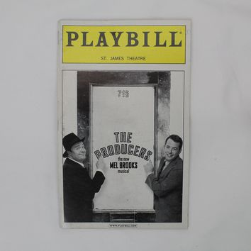 The Producers Playbill