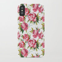 Peony Flower Pattern iPhone Case by Smyrna