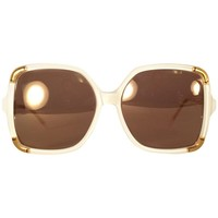 New Vintage Ted Lapidus Club Ivory Paris 1970 Sunglasses Fran