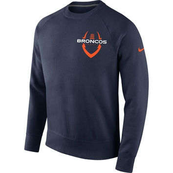 Denver Broncos Nike Iconic Club Crew Sweatshirt – Navy Blue