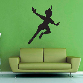 Peter Pan Flying Silhouette - Wall Decal