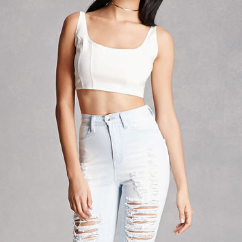 Distressed High-Rise Shorts