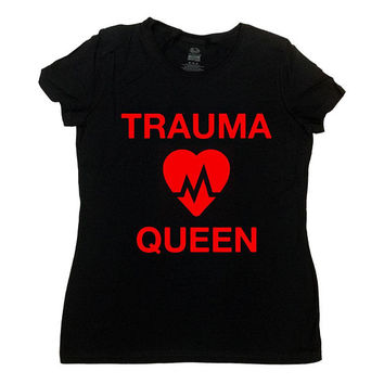 Funny Nurse Shirt Nursing Gift Ideas For Her RN T Shirt Registered Nurse Graduation Gift LPN Nurse Life Trauma Queen Mens Ladies Tee -SA1062