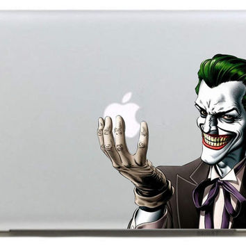 Batman Joker clown  Vinyl Decal Sticker for Apple Macbook Pro / Air 11 13 15 Inch Laptop Case Cover Sticker