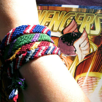 Avengers Inspired Friendship Bracelets - Mighty 4