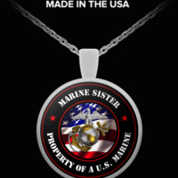 Military - Marine Sister - Property of a U.S. Marine - Necklace