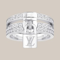 Lockit ring, white gold and diamonds - Louis Vuitton - LOUISVUITTON.COM