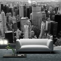 Ecological wall mural - Wall decor New York from above by Couture Deco