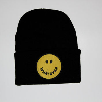 Whatever Smiley Beanie