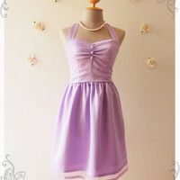 BLOOM : Lavender dress lilac dress vintage inspired party dress prom dress evening dress bridesmaid dress party dress - size s, m ,l