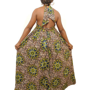 XMAS SALE - African Clothing- African Women Dress-African Print Maxi Dress - Ankara Maxi Dress